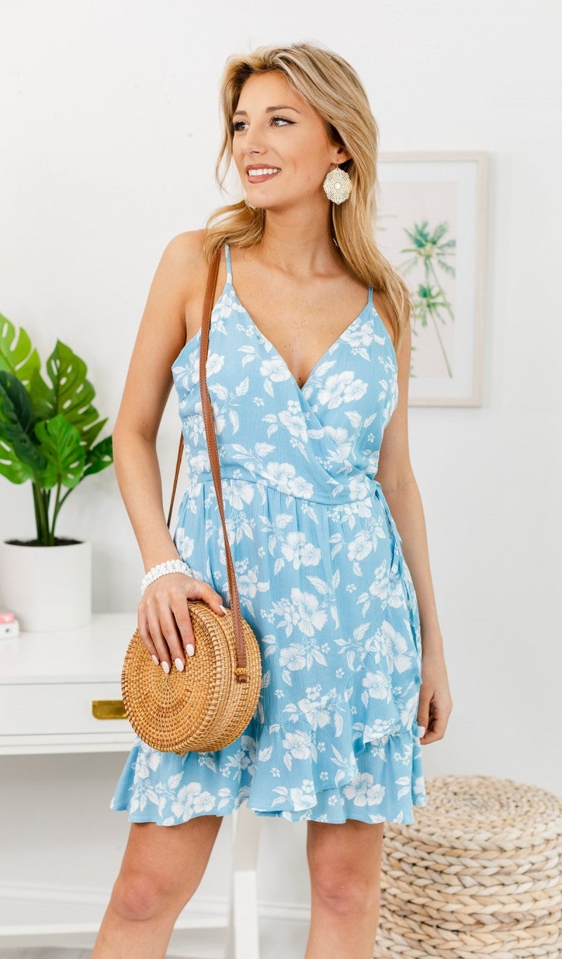 The Sea Breeze Dress, Aqua