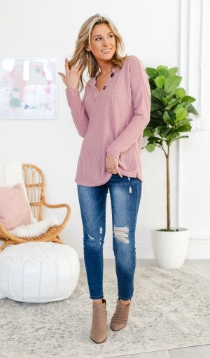 Twist On A Classic Top, Pink