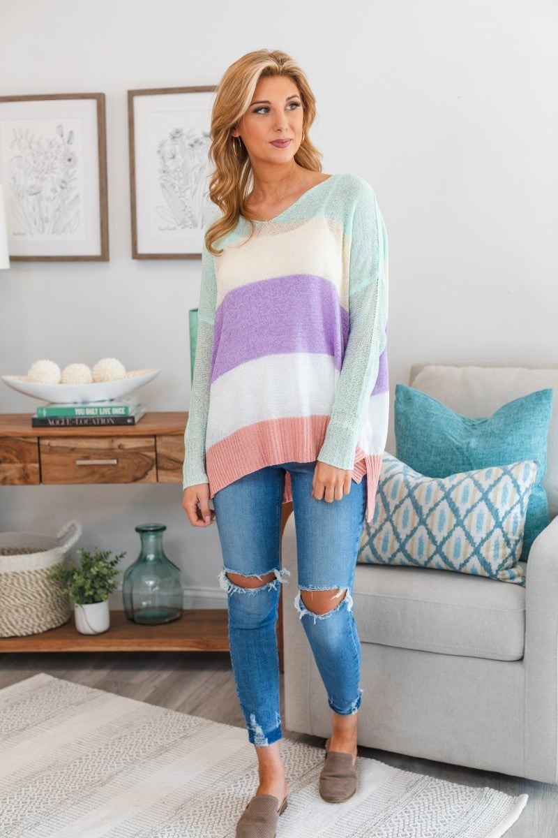 All For Fun Sweater, Mint