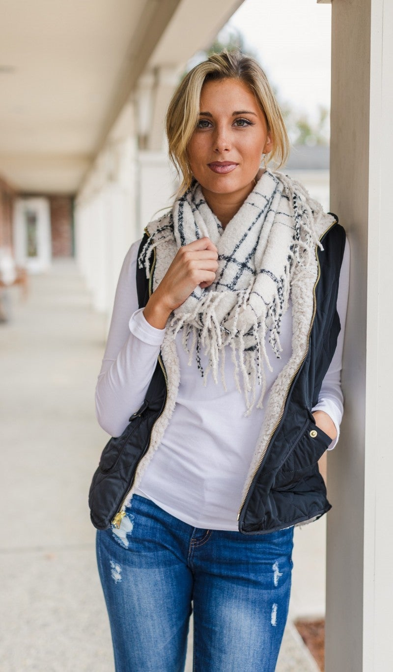 The It Girl Fringe Infinity Scarf