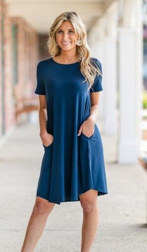 Must-have Summer Dress, Navy