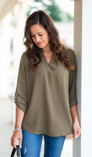 Call it Love Blouse, Olive