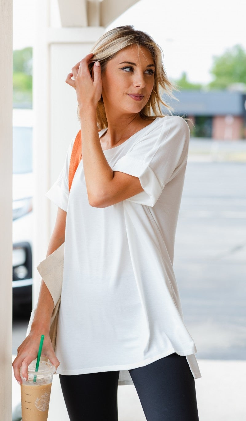 The Isabella Oversized Tee, White