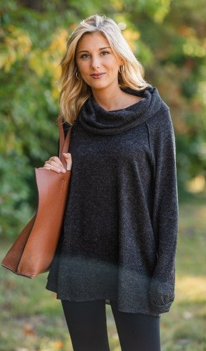 Lovely Leisure Tunic, Black