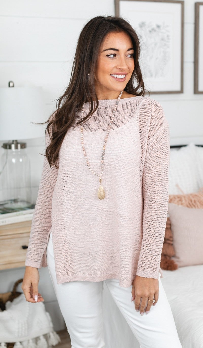 Take Me With You Sweater, Black or Blush