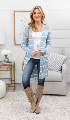 No Stopping You Cardigan, Blue or Mint *Final Sale*