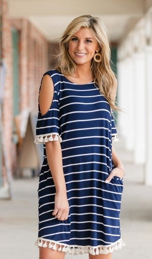 Got You Covered Dress in Navy