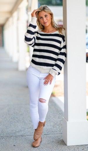 Take A Look Back Sweater, Black