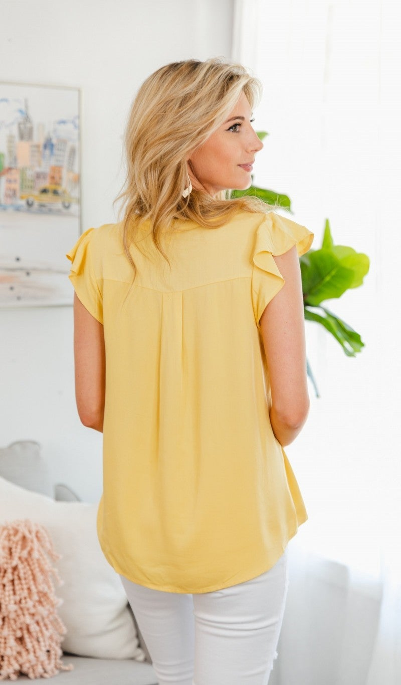 Dreamers Paradise Top, Yellow