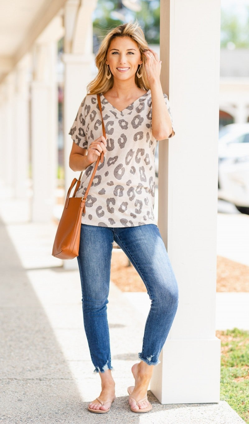In Sync Top, Neutral Print
