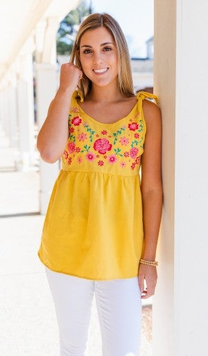 Sunny Days Tank, Yellow