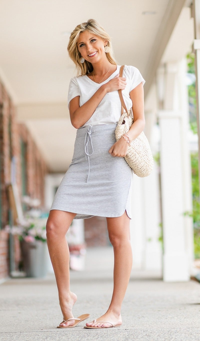 Slip Into Casual Skirt, Grey