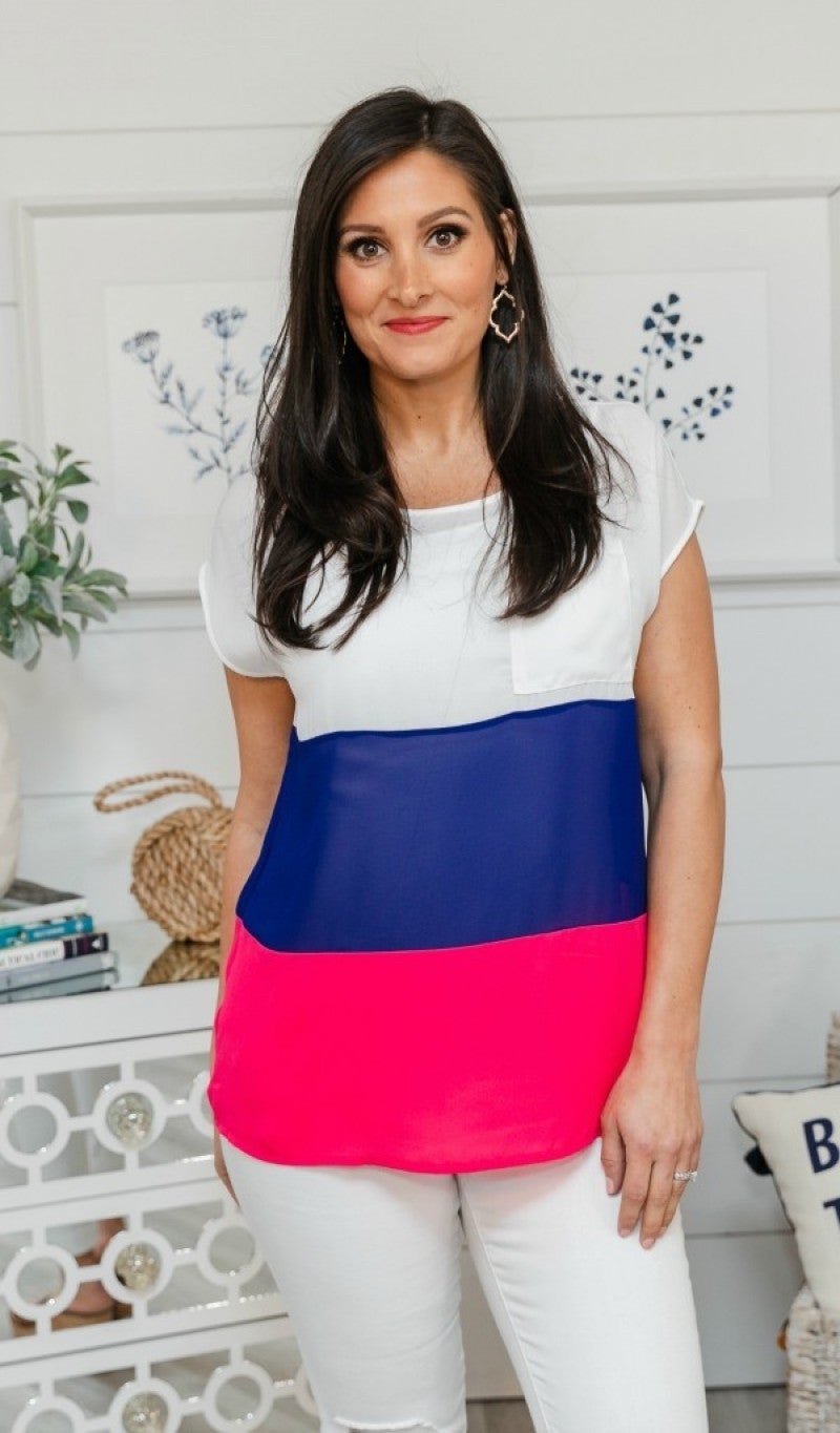True to You Color Block Top