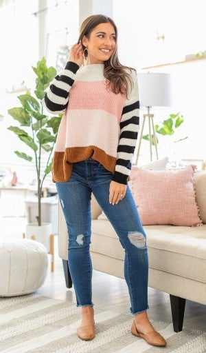 Spring Fave Color Block Sweater