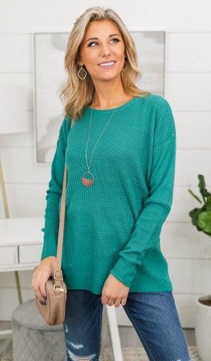 The Bella Sweater, Jade
