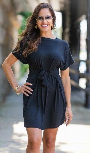 All Tied Up Dress, Black