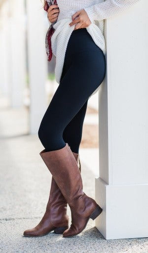Premier BLACK Fleece Lined Leggings