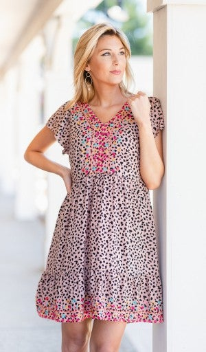 One For All Printed Dress, Light Pink