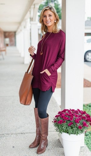 Beyond Basic Tunic, Burgundy