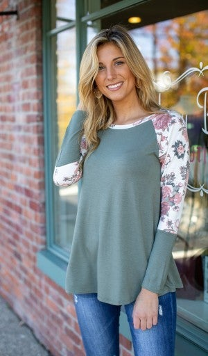 Game Changer Top, Olive