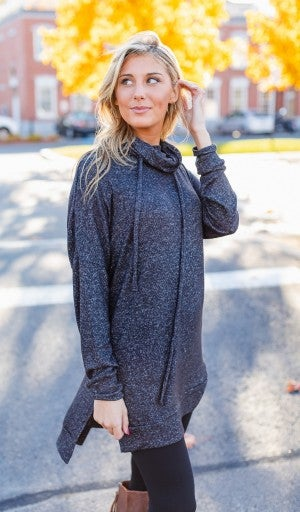 The One You Want Tunic, Charcoal