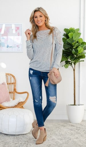 More Than Words Top, Grey