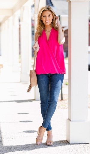 Golden hour Tank, Fuchsia