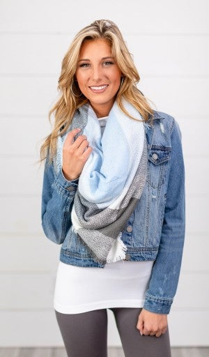 My All Time Favorite Plaid Scarf, Blue