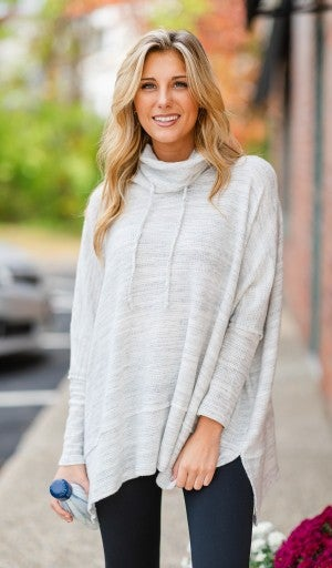 Any Day Of The Week Tunic, Ivory/Grey
