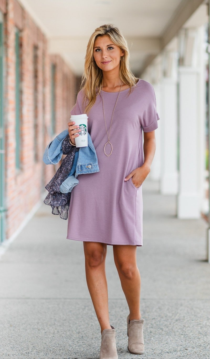 Step In The Right Direction Dress, Lavender