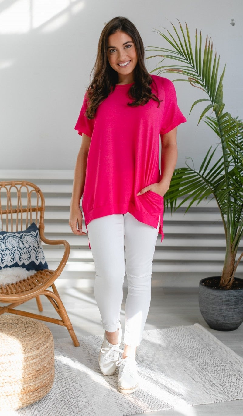 Talk Of The Town Tunic, Pink or Blue *Final Sale*