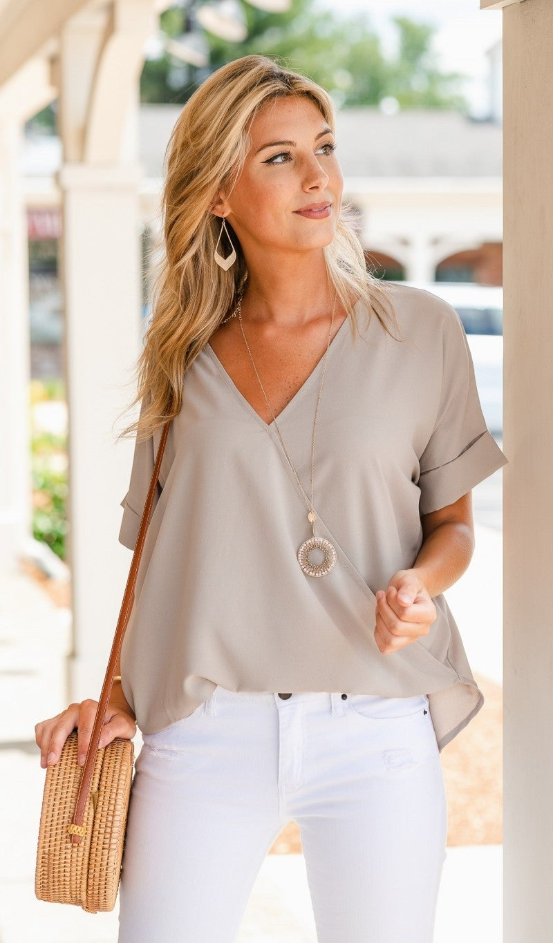 Monday Meeting Top, Rose or Mocha