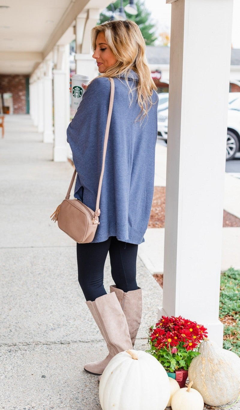Ready For Anything Tunic, Blue Or Mauve *Final Sale*