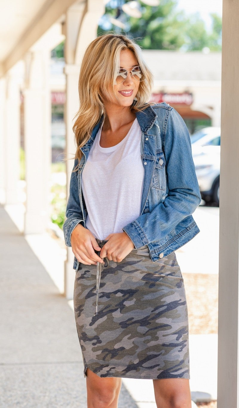 Slip Into Casual Skirt, Camo