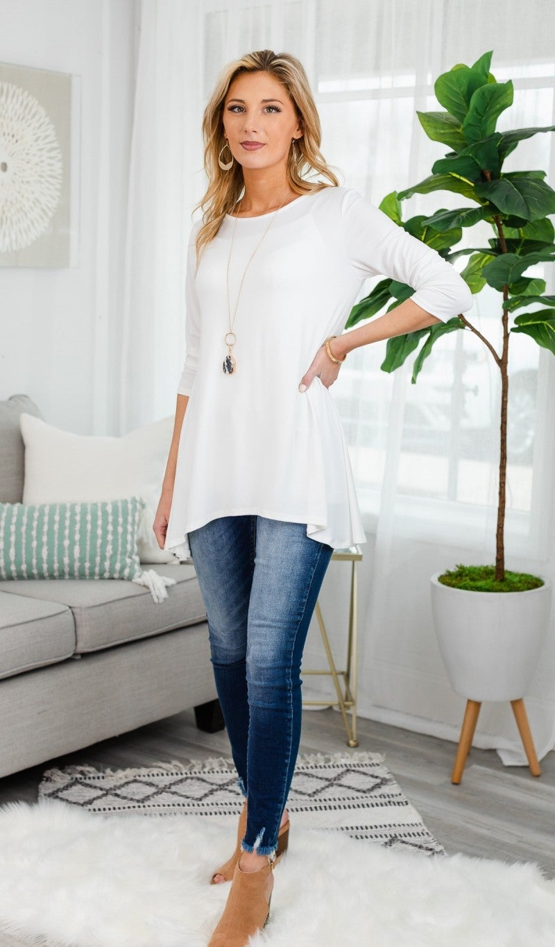 A Second Look Tunic, Ivory