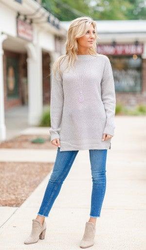 Fall Staple Sweater, Grey