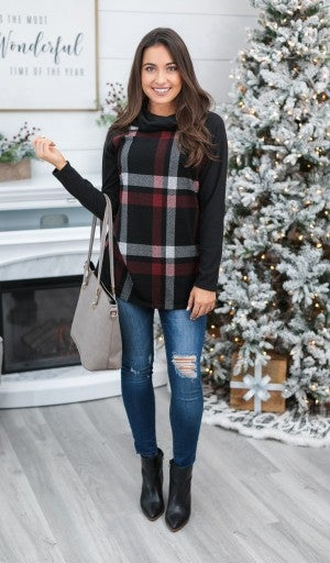 The Emmy Plaid Top, Black