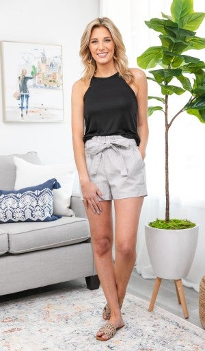 The Alessia Shorts, Taupe
