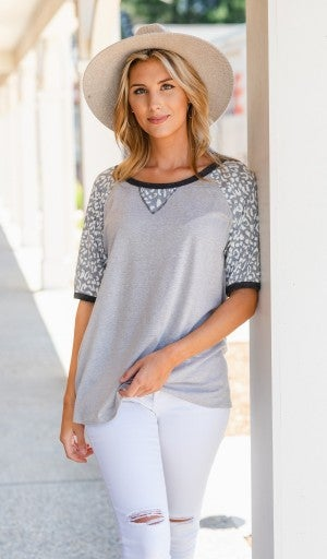 Accounted For Tee, Neutral Print