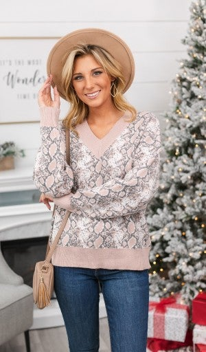The Finley Sweater, Pink