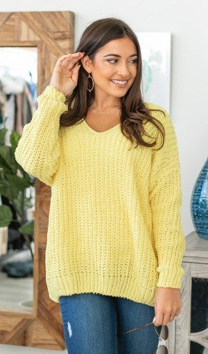 Everything I Need Sweater, Yellow