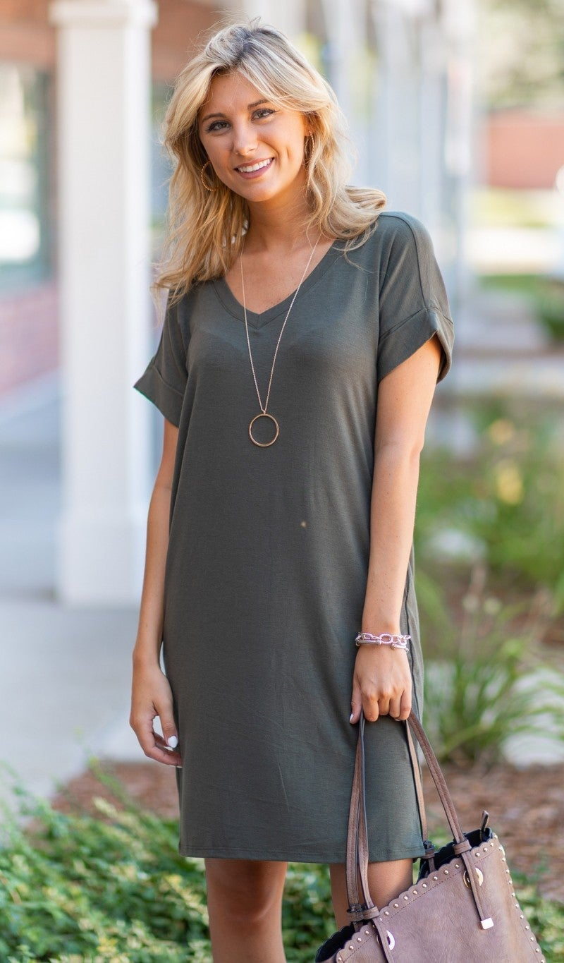 Impress Me Dress, Olive or Black