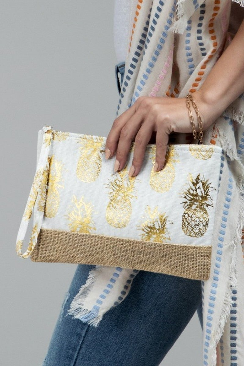Feeling Summer Clutch-Grey, White, or Navy