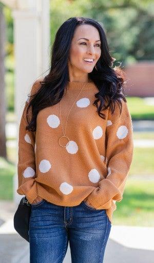 Dots of Fun Sweater, Marigold