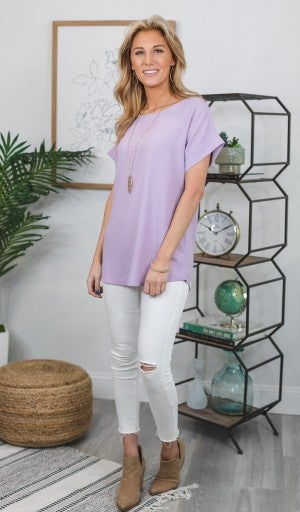 Call This Classic Top-Lavender, Mint, Or Coral *Final Sale*