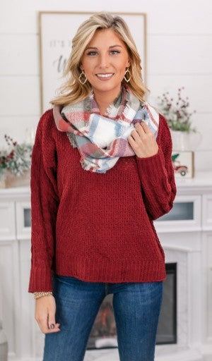 Winter Delight Plaid Infinity Scarf