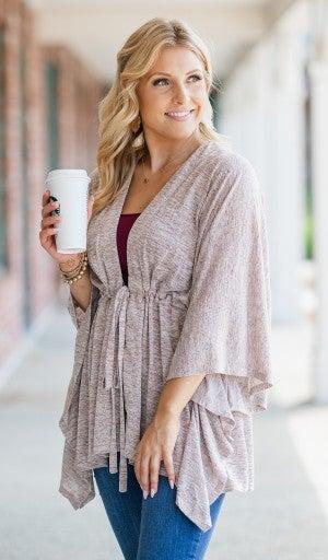 Cool Breeze Kimono, Latte