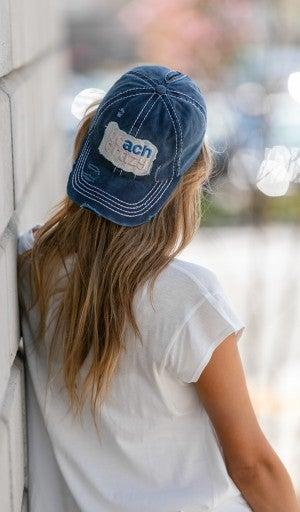 Beach Crazy Hat, Navy Or Grey