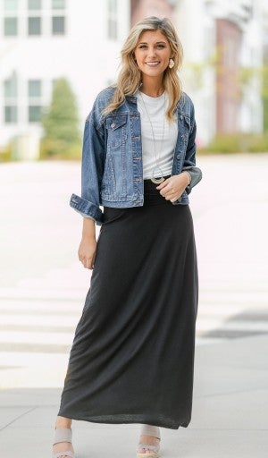 Essential Maxi Skirt, Black