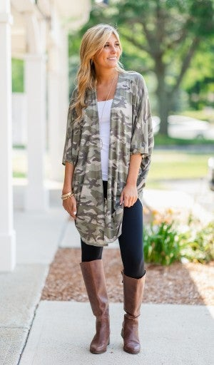 Night Like This Kimono/Cardigan, Camo
